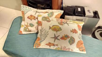 Pillow shams for the guest cabin complete!